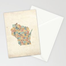 Wisconsin by County Stationery Cards