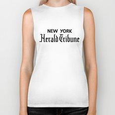 New York Herald Tribune! Breathless / a bout de souffle Biker Tank