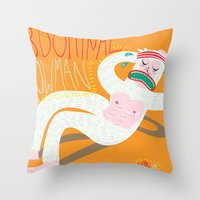 Abdominal Snowman Throw Pillow