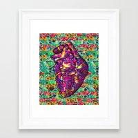 Give Strong (1) Framed Art Print