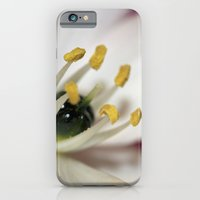 iPhone & iPod Case featuring White Flower by redlinedesign®