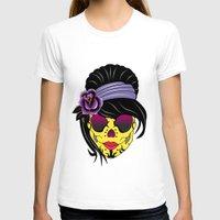 sugar skull T-shirts featuring SUGAR SKULL by mark ashkenazi