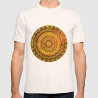 Golden Sun Mandala 2 Mens Fitted Tee Natural SMALL