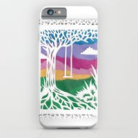 iPhone & iPod Case featuring Sunset Swing Papercut by Katy Betz