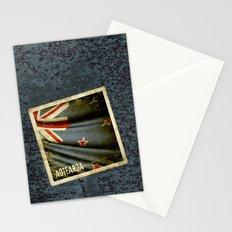 Grunge sticker of New Zealand flag Stationery Cards