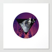 Witchy Wolf Canvas Print