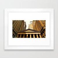 'Wall Street NYC' Framed Art Print