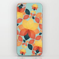 Orange Garden Pattern iPhone & iPod Skin
