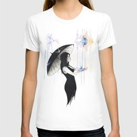 Pluviophile Womens Fitted Tee White SMALL