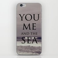 You, Me, and the Sea iPhone & iPod Skin