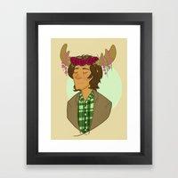Sam is a Pretty Pretty Moose Framed Art Print