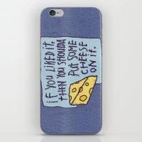 Cheese On It iPhone & iPod Skin