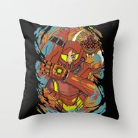The Huntress. Throw Pillow