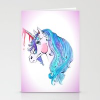 Cabin In the Woods Unicorn Stationery Cards