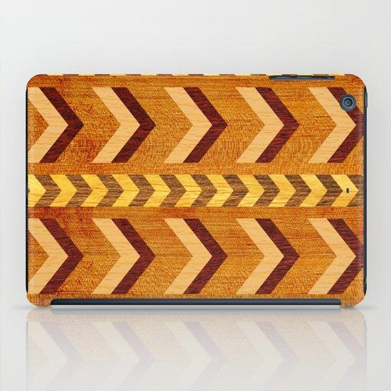 Wood Inlaid Chevrons iPad Case