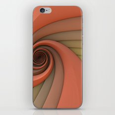Spiral in Earth Tones iPhone & iPod Skin
