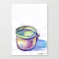 Pink Cup Canvas Print