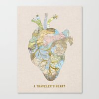 A Traveler's Heart Canvas Print