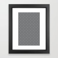 Diamonds in Smoke Framed Art Print