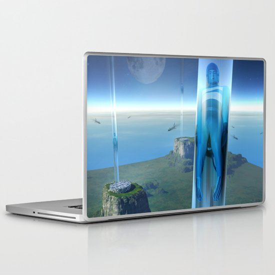 space elevator - babylon transfer station 02 Laptop & iPad Skin