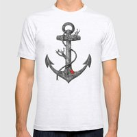 Lost at Sea  Mens Fitted Tee Ash Grey SMALL