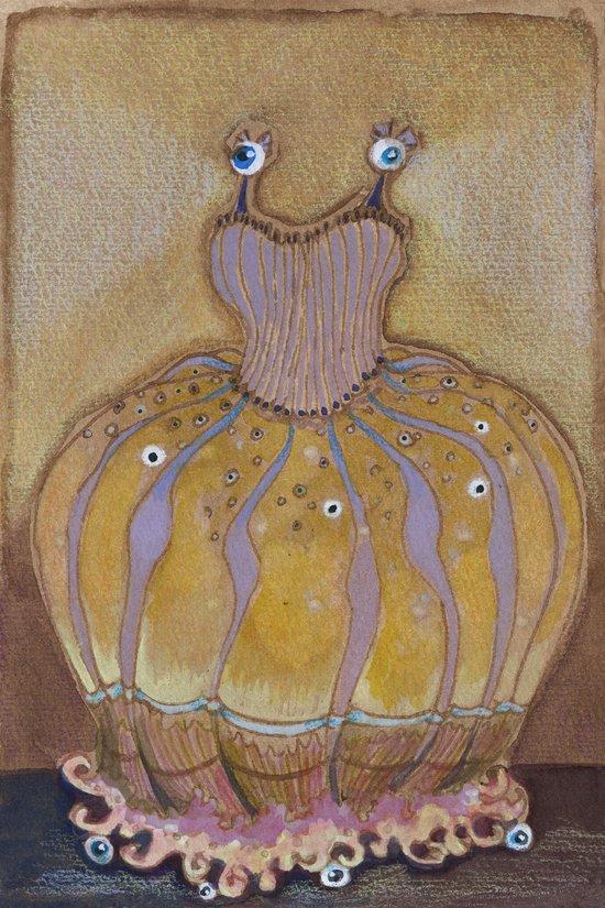 Flashing eyes gown Art Print