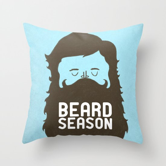 Beard Season Throw Pillow