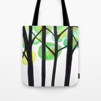 blacks trees Tote Bag