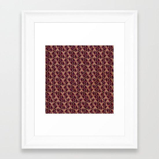 Cubes Framed Art Print