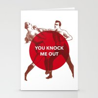 You Knock Me Out Stationery Cards