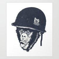 Monkey mania Art Print