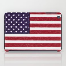 United states national flag - the Crayon and colored pencils version iPad Case