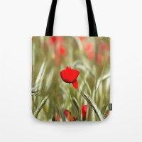 Hot Poppy Tote Bag