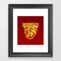 Casterly Rock Gold Lions Framed Art Print