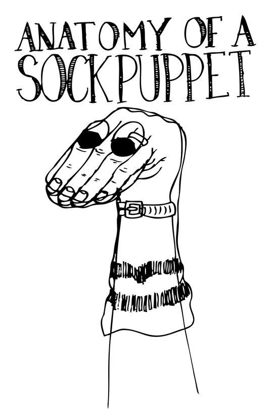 Sock Puppet Art Print