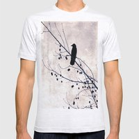 Crow Mens Fitted Tee Ash Grey SMALL