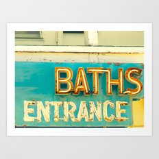 Baths Art Print