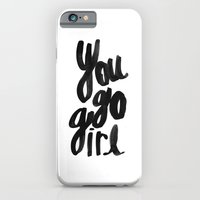 iPhone & iPod Case featuring You go girl brushed lettering by Allyson Johnson