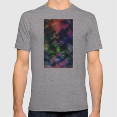 Fractal Space Mens Fitted Tee Athletic Grey SMALL