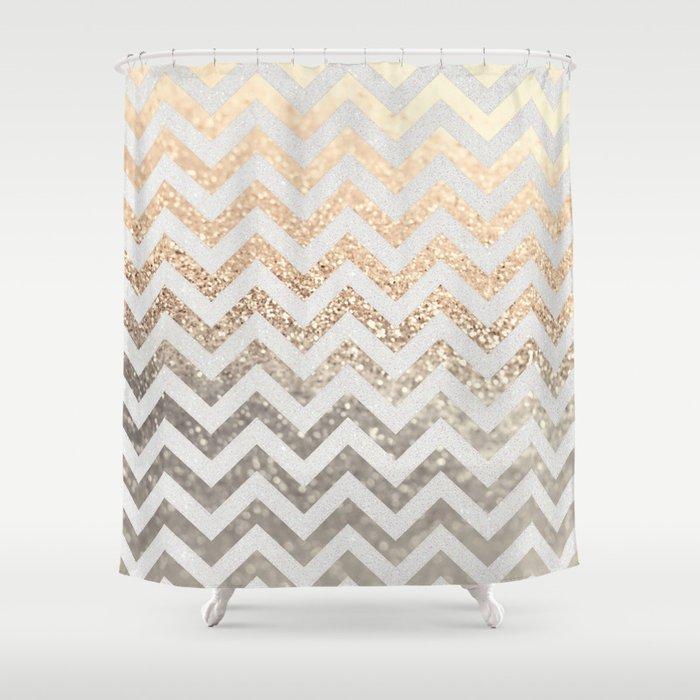 GOLD Amp SILVER Shower Curtain By Monika Strigel