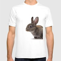The Sweetest Chocolate Bunny  Mens Fitted Tee White SMALL