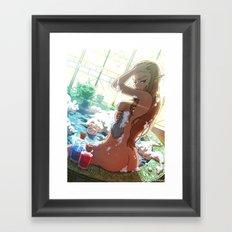 Zelda's Bathtime Framed Art Print