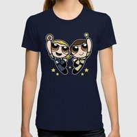 An Unstoppable Team  Womens Fitted Tee Navy SMALL