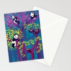 Both Species of Panda - Blue Stationery Cards