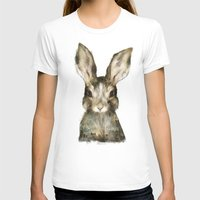 bunny T-shirts featuring Little Rabbit by Amy Hamilton