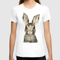 rabbit T-shirts featuring Little Rabbit by Amy Hamilton