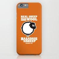 Baaadass the Sheep: Real Sheep Wear Wool iPhone 6 Slim Case