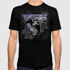 Pterodactyl Fossil Mens Fitted Tee Black SMALL