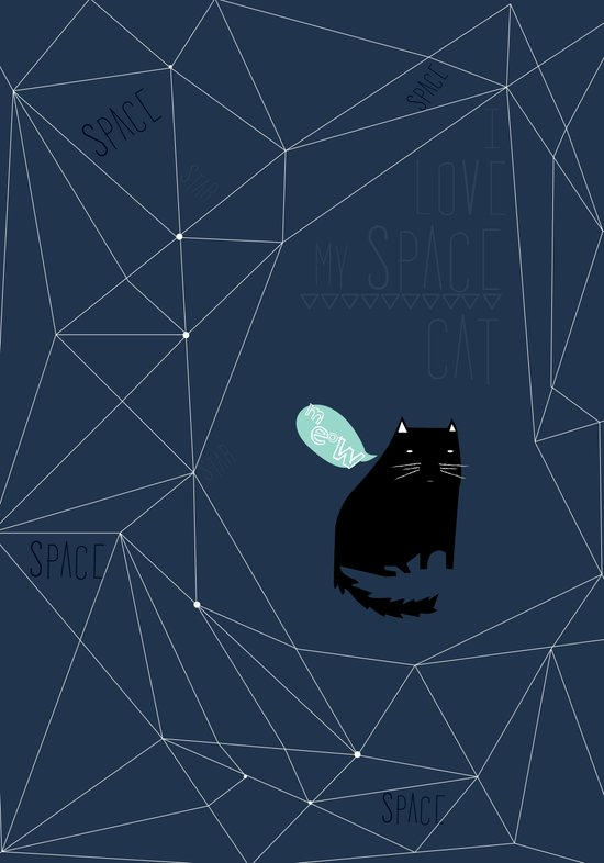 my_spacecat Art Print