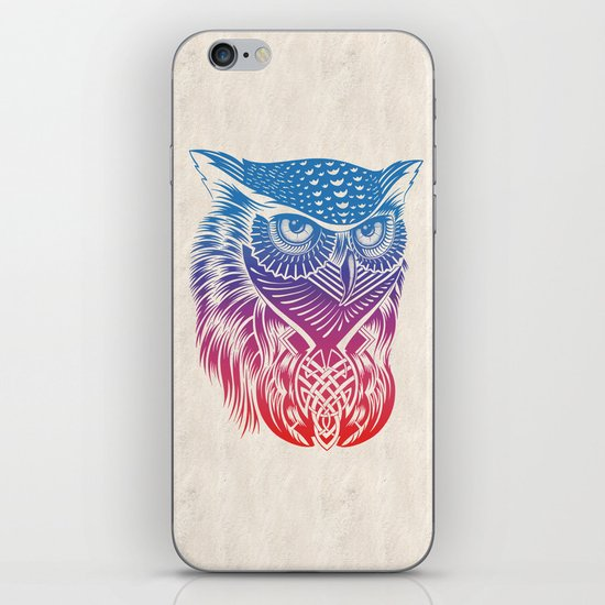Owl of Color iPhone & iPod Skin